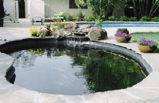 Concrete ponds for Concrete koi pond construction